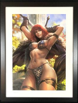 Red Sonja Fine Art Print Dynamite Entertainment Kunstdruck by Derrick Chew 61 x 46cm gerahmt Sideshow