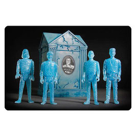 Universal Monsters 4er-Pack Blue Glow SDCC 2015 Exclusive Krypta ReAction Actionfiguren 10cm Super7