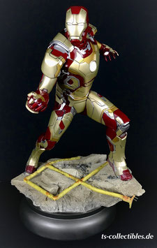 Iron Man Mk 42 XLII 1/4 Premium Format Maquette Iron Man 3 Marvel Avengers Statue 51cm Sideshow