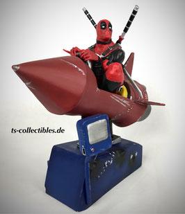 Deadpool Rocket Ride Premium Motion Statue 25cm Marvel Statue Factory Entertainment