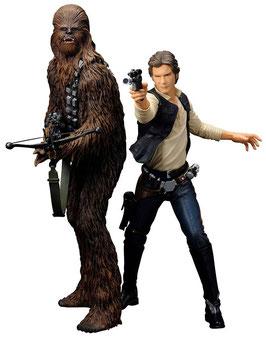 Han Solo & Chewbacca 1/10 Star Wars Episode IV ANH ARTFX+ Statuen Doppelpack 18cm