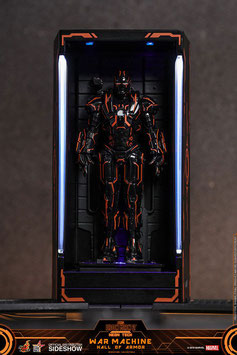Neon Tech War Machine Hall of Armor Marvel Iron Man 2 MMS Compact Series Diorama Statue 12cm Led beleuchtet Hot Toys