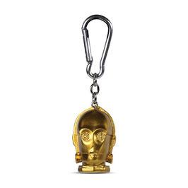 C-3PO 3D-Schlüsselanhänger Star Wars 4cm Pyramid