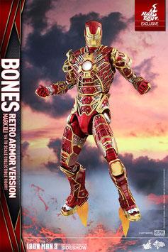 Iron Man Mark XLI Bones 1/6 Iron Man 3 Sideshow EX Actionfigur Hot Toys