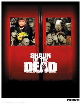 Shaun of the Dead - Squashed 35 x 28cm - ungerahmt Art Print Fanatik