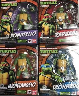 Teenage Mutant Ninja Turtles S.H. Figuarts Actionfiguren Komplett Set Leonardo, Donatello, Michelangelo, Raphael,  Tamashii Web Exclusive 15cm Bandai