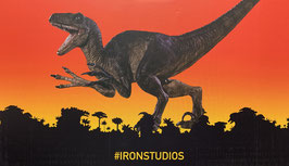 Velociraptor Attack 1/10 Jurassic Park Bds Art Scale Resin Statue 31cm Iron Studios