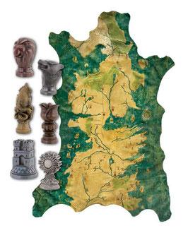 Game of Thrones Map Marker Set 1/1 Robb Stark's Karte mit Markiersteinen 127x90cm Resin Dark Horse