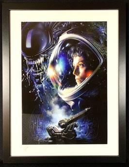 Alien 1979 Ripley Fine Art Print 61x46cm by Tsuneo Sanda Exclusive gerahmt Sideshow
