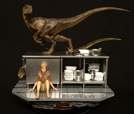 Velociraptors in the Kitchen Set 1/10 Jurassic Park Statue 33cm Iron Studios