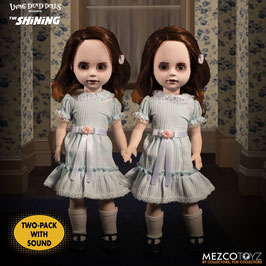 The Grady Twins Living Dead Dolls Shining Puppen mit Sound 25cm Actionfiguren Mezco Toys