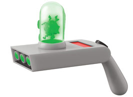 Rick and Morty Portal Gun Toy Cosplay Replik mit Sound und Leuchtfunktion 1/1 Life-Size Funko