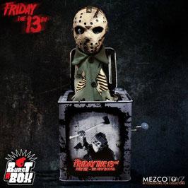 Jason Voorhees Springteufel Freitag der 13. Burst-A-Box Spieluhr Horror 36cm Mezco