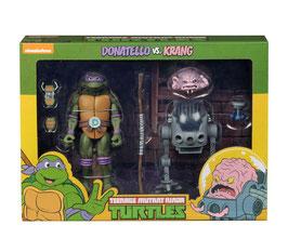 Teenage Mutant Ninja Turtles Actionfiguren Doppelpack Donatello vs Krang in Bubble Walker 18cm Neca