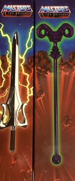 Skeletors Havoc-Stab & He-Mans Schwert der Macht Masters of the Universe Mini Replik 20cm Diecast 2er Set Factory Entertainment