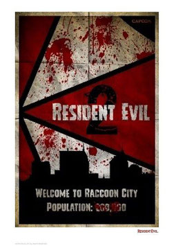 Resident Evil 2 - Welcome To Raccoon City 42 x 30cm - ungerahmt Art Print Fanatik