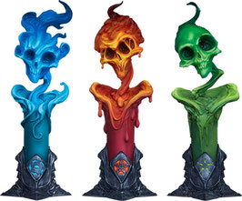 The Lighter Side of Darkness: Faction Candle Court of the Dead Court Statuen 3er-Pack 18cm Sideshow