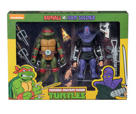 Teenage Mutant Ninja Turtles Actionfiguren Doppelpack Raphael vs Foot Soldier 18cm Neca