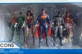 Justice League Rebirth New 52 Action Figuren 18cm Original 7er Pack DC Icons