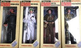 Action Man 1/6 Suba Diver, Ski Patrol, British Infantryman, Paratrooper 50th Anniversary Acionfiguren 4xFigures Set 30cm Collectors Edition Hasbro