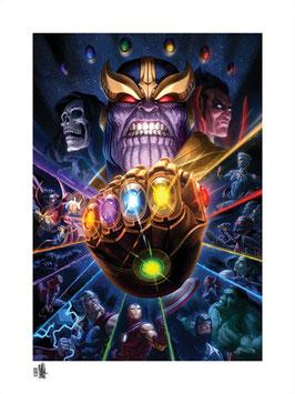 Thanos & Infinity Gauntlet Fine Art Print by Fabian Schlaga  61 x 46cm - ungerahmt Marvel Avengers Sideshow