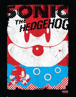 Sonic The Hedgehog - Sonic Black  35 x 28cm - ungerahmt Art Print Fanatik