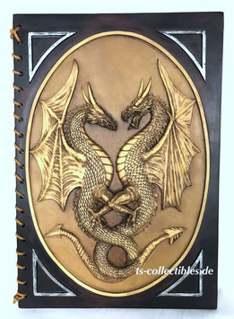 Großes Drachen Notizbuch Resin 3,6Kg handgebunden Einzelstück 38x26,5cm Vintage Ts-Collectibles