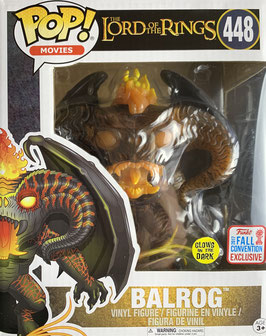 "Balrog 6"" Funko Pop! Lord of the Rings Glow in the Dark (Fall Convention 2019 Exclusive) Vinyl Figur 16cm"