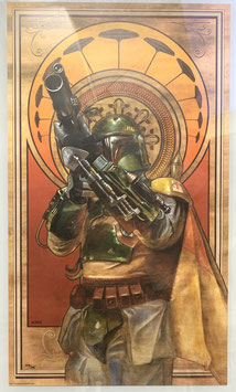 Boba Fett Art Print Cloud City Gambit Star Wars 61x35cm Giclee by Lee Kohse ungerahmt Acme Archives