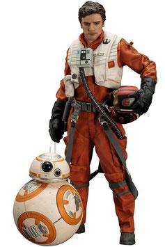Poe Dameron & BB-8 Doppelpack 1/10 Star Wars Episode VII 7 & 18cm Statue ARTFX+ Kotobukiya