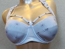 Weißer Schalen-BH mit Nieten von Marlies Dekkers  / Größe 70 D