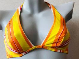 Gelb/Orangefarbenes Triangel-Bikinitop von SI e LEI / Größe 80 B