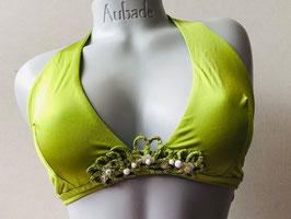 Hellgrünes Triangel-Bikinitop von Cotton Club / Größe 85 D