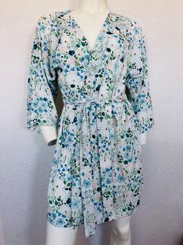 Blau/Grün gemusterter Kimono  von Valery / Größe 34/36
