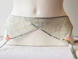 Silbergrauer Strapsgürtel von Chantal Thomass / Größe 2 und 3