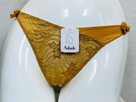 Goldfarbener Spitzen-String von Aubade / Größe 44