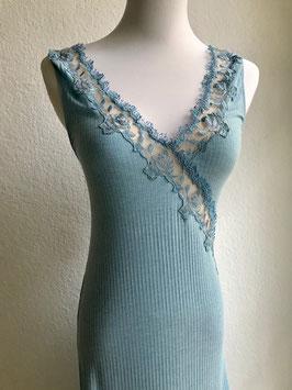Türkisblaues Maxi-Nachthemd von Valery / Größe 36