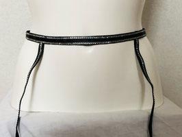 Schwarzer Straps-Gürtel von Christies / Größe 2 (entspricht 34/36/38)