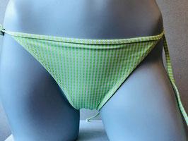 Grün/Weiß kariertes Triangel-Höschen von SI e LEI / Größe 36