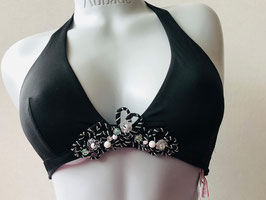 Schwarzes Triangel-Bikinitop von Cotton Club