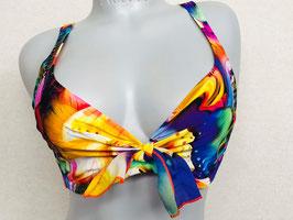 Exppressiv gemustertes Bügel-Bikinitop von Antigel by Lise Charmel