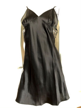 Schwarzes Seidenhemdchen von Luna di Seta / Größe 42