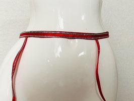 Roter Straps-Gürtel von Christies / Größe 2 (entspricht 34/36/38)
