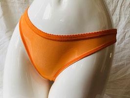 Orangefarbener Tüll-String von John Richmond / Größe 36