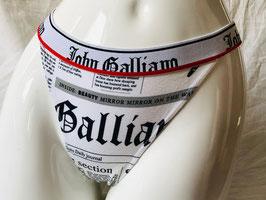 Schwarz/Weißer String von John Galliano / Größe 38