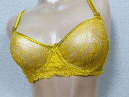 Gelber Spitzen-BH von Mimi Holliday / Größe 75 D