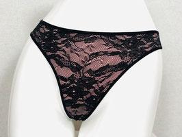 Rosa- und schwarzer Spitzen-String von Marlies Dekkers