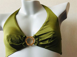 Olivgrünes Bikini-Top von Veronica Verde / Größe 80 C