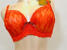 Orangeroter Spitzen-BH von Pleasure State