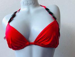 Rotes Triangel-Bikinitop mit Schmucksteinen, von Aubade